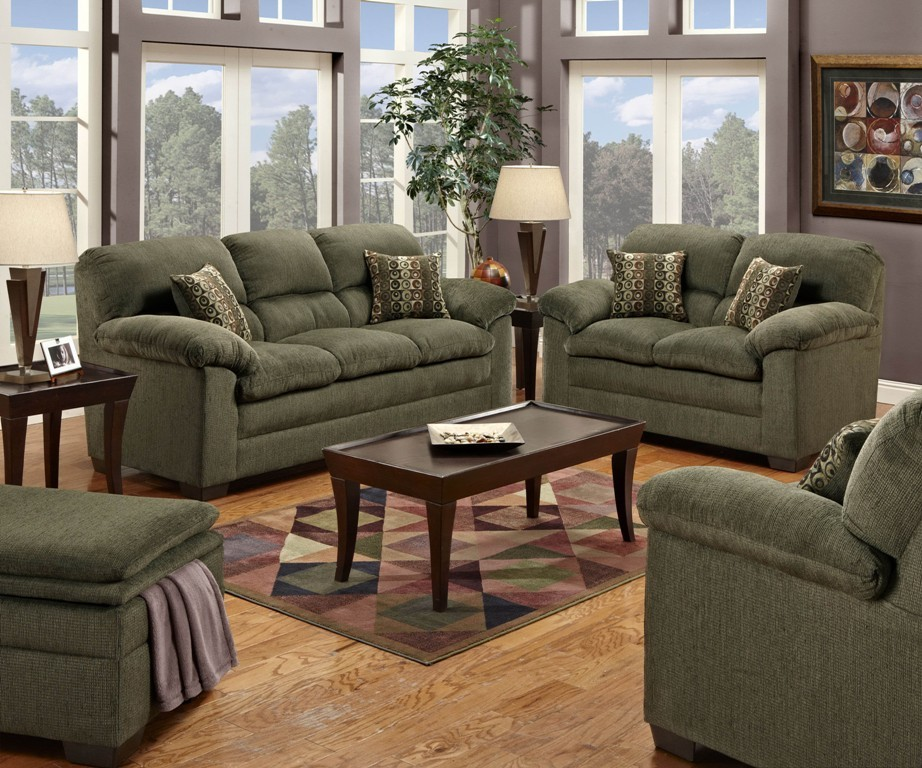 3684 radar forest madison furniture direct for Forest green living room furniture